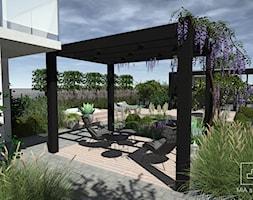 Ogród z altaną i jacuzzi - zdjęcie od MIA studio - Homebook