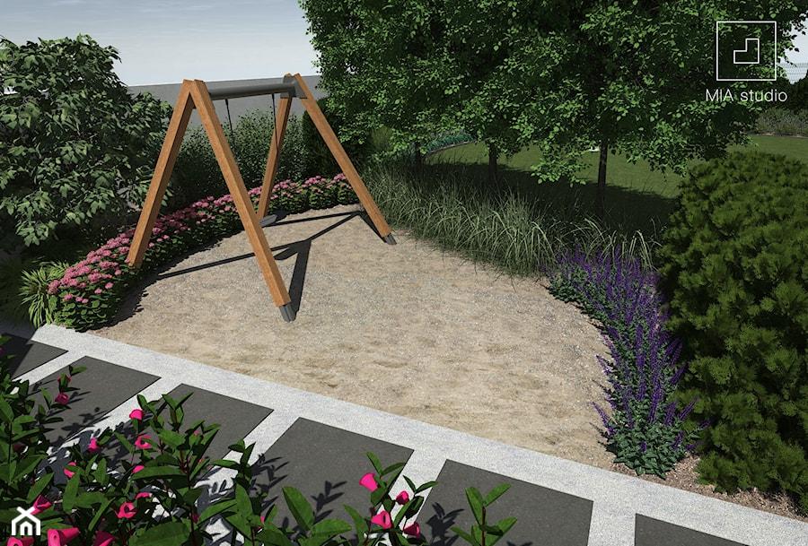 Plac zabaw w ogrodzie - zdjęcie od MIA studio