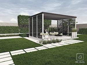 Ogród nowoczesny z altaną