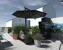 Taras na dachu - Średni taras na dachu, styl nowoczesny - zdjęcie od MIA studio - Homebook
