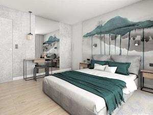 sypialnia z tapetą z udekorujdom.pl - zdjęcie od StudioAtoato