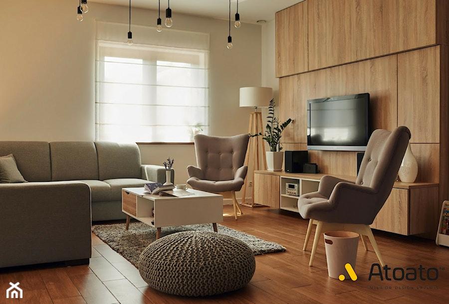 salon w stylu tradycyjnym - zdjęcie od StudioAtoato