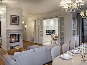 Konstancja 2 - Średni biały salon z kuchnią z jadalnią, styl klasyczny - zdjęcie od architekt Roland Stańczyk | RS Studio Projektowe