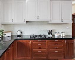 Kuchnia klasyczna - Średnia otwarta szara kuchnia w kształcie litery l, styl eklektyczny - zdjęcie od architekt Roland Stańczyk   RS Studio Projektowe - Homebook