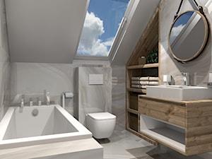Łazienka ALABASTER na poddaszu - zdjęcie od kaflando