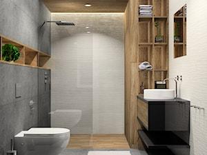 Łazienka z płytkami 3D materiał