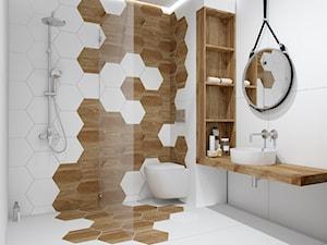 Łazienka z heksagonem WOOD - zdjęcie od kaflando