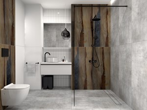 Łazienka ANTIK & beton TUVAL