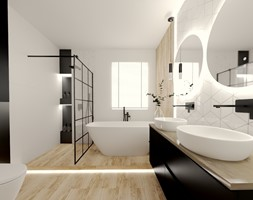 Jasna łazienka z rombami 3 - zdjęcie od kaflando - Homebook