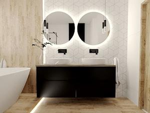 Jasna łazienka z rombami