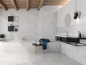 łazienka skandynawska z marmurkiem
