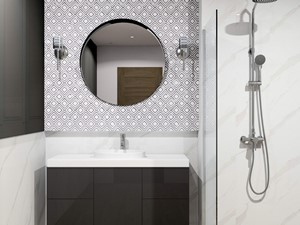 Klasyczna łazienka z natryskiem WAU