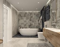 Łazienka z nowoczesnym motywem kwiatowym - zdjęcie od kaflando - Homebook