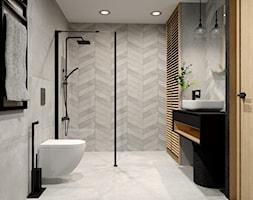 Łazienka z chevronem - zdjęcie od kaflando - Homebook