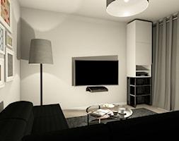 Salon ściana tv, zabudowa grzejnika - zdjęcie od FEDER