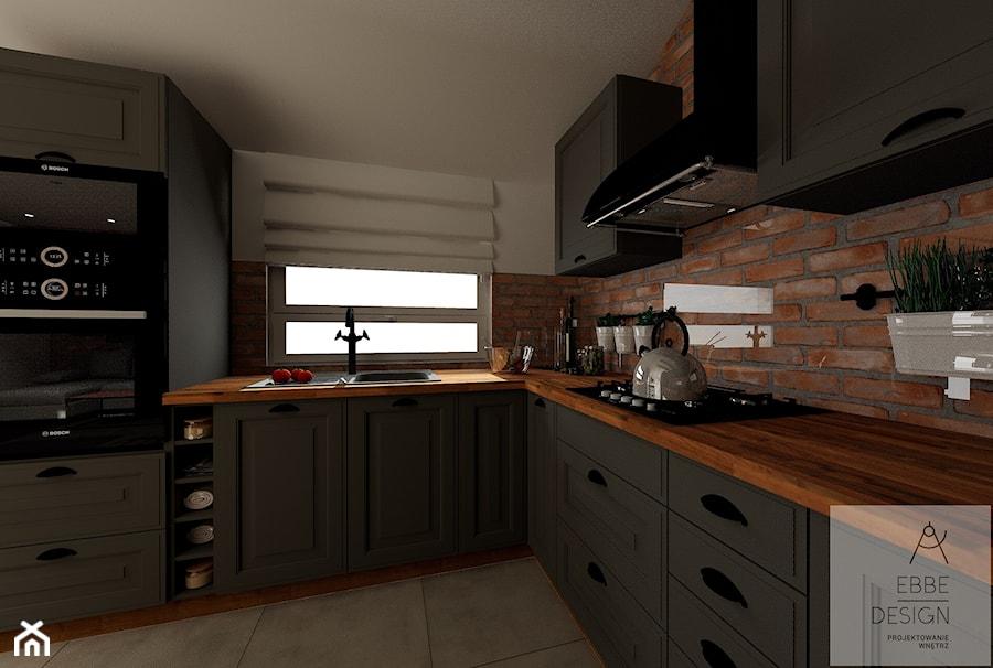 Mieszkanie 55m2 - Kuchnia, styl vintage - zdjęcie od EBBE Design Projektowanie Wnętrz