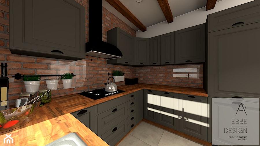 Mieszkanie 55m2 - Kuchnia, styl włoski - zdjęcie od EBBE Design Projektowanie Wnętrz