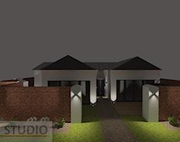 oświetlenie zewnętrzne domu jednorodzinnego - zdjęcie od EBBE Design Projektowanie Wnętrz - Homebook