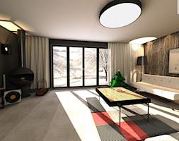 Dom jednorodzinny - Duży czarny salon, styl skandynawski - zdjęcie od EBBE Design Projektowanie Wnętrz - Homebook