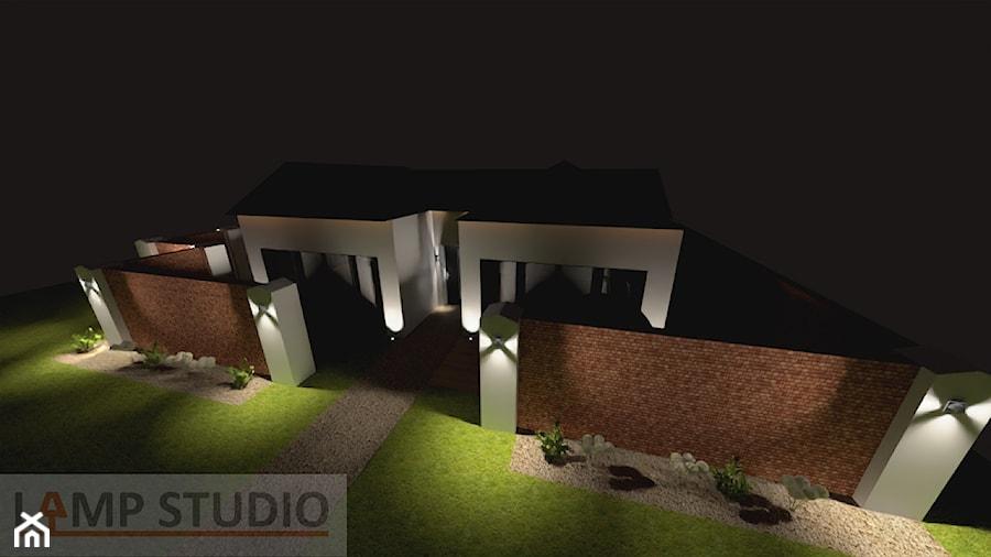 oświetlenie zewnętrzne domu jednorodzinnego - zdjęcie od EBBE Design Projektowanie Wnętrz