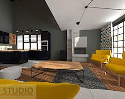 Salon z kuchnią - Salon, styl nowoczesny - zdjęcie od EBBE Design Projektowanie Wnętrz - Homebook