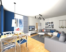 Mieszkanie na wynajem - Salon, styl skandynawski - zdjęcie od EBBE Design Projektowanie Wnętrz - Homebook