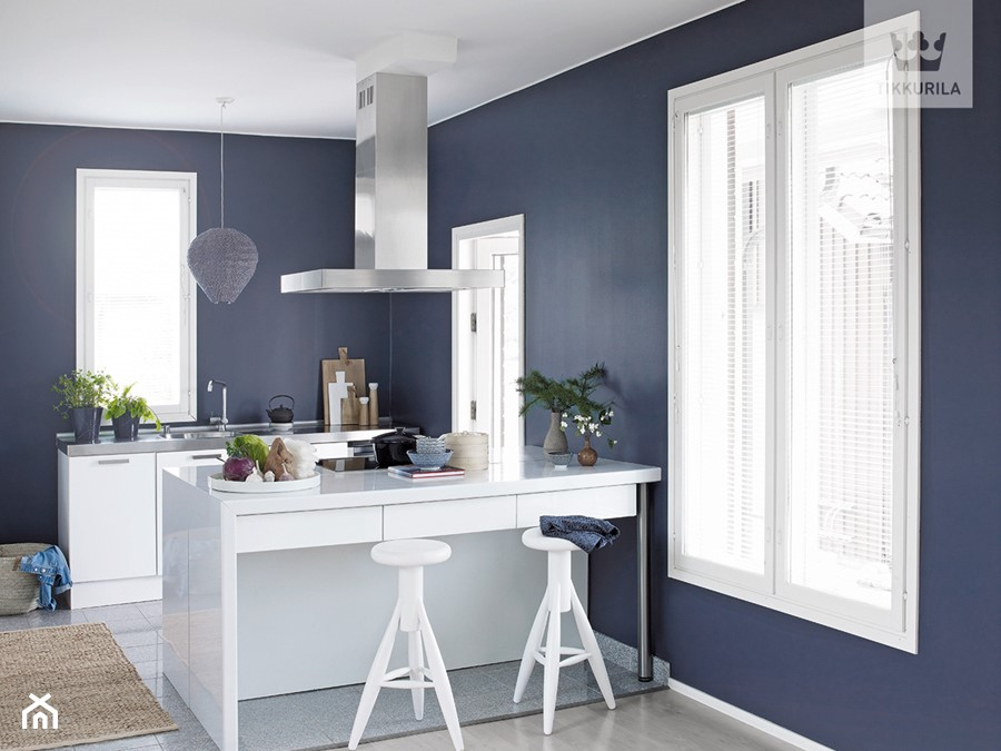Kolekcja Tikkurila Color Now Mala Otwarta Niebieska Kuchnia