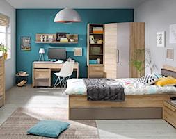 Kolekcja Malakka - Średni biały szary turkusowy pokój dziecka dla ucznia dla nastolatka, styl skandynawski - zdjęcie od FORTE