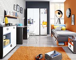 Kolekcja Colors - Średni biały pomarańczowy czarny pokój dziecka dla chłopca dla dziewczynki dla ucznia dla nastolatka, styl nowoczesny - zdjęcie od FORTE