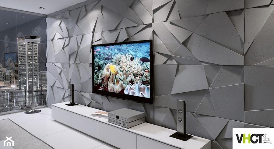 Aranżacje wnętrz - Salon: beton architektoniczny VHCT płyty 3D - VHCT Producent betonu architektonicznego. Przeglądaj, dodawaj i zapisuj najlepsze zdjęcia, pomysły i inspiracje designerskie. W bazie mamy już prawie milion fotografii!