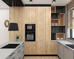 Kuchnia+w+stylu+boho-loft+-+zdj%C4%99cie+od+Kompleksowe+projektowanie+wn%C4%99trz+Katarzyna+Krasowska