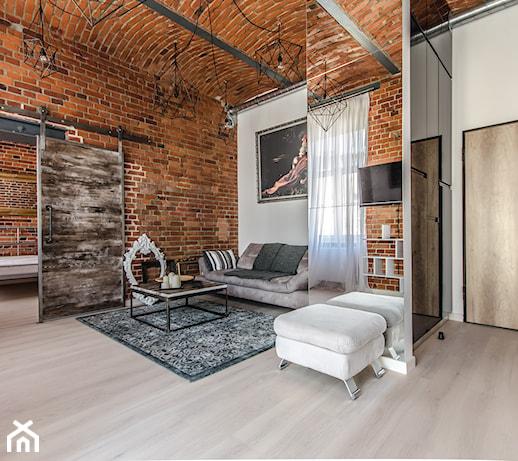 Małe mieszkanie dla singla w stylu loftowym