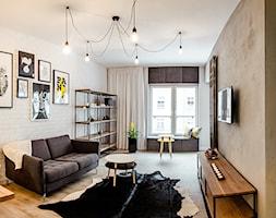 Soft loft Nowa Papiernia Ultra Nova - Średni salon z kuchnią z jadalnią, styl nowoczesny - zdjęcie od Nowa Papiernia