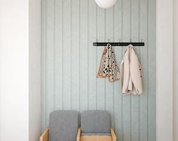 Mieszkanie 85m2 Warszawa - Mały biały hol / przedpokój, styl eklektyczny - zdjęcie od INTERIOLOGY