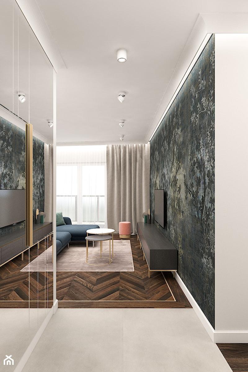 Mieszkanie 120m2 Warszawa - Hol / przedpokój, styl nowoczesny - zdjęcie od INTERIOLOGY