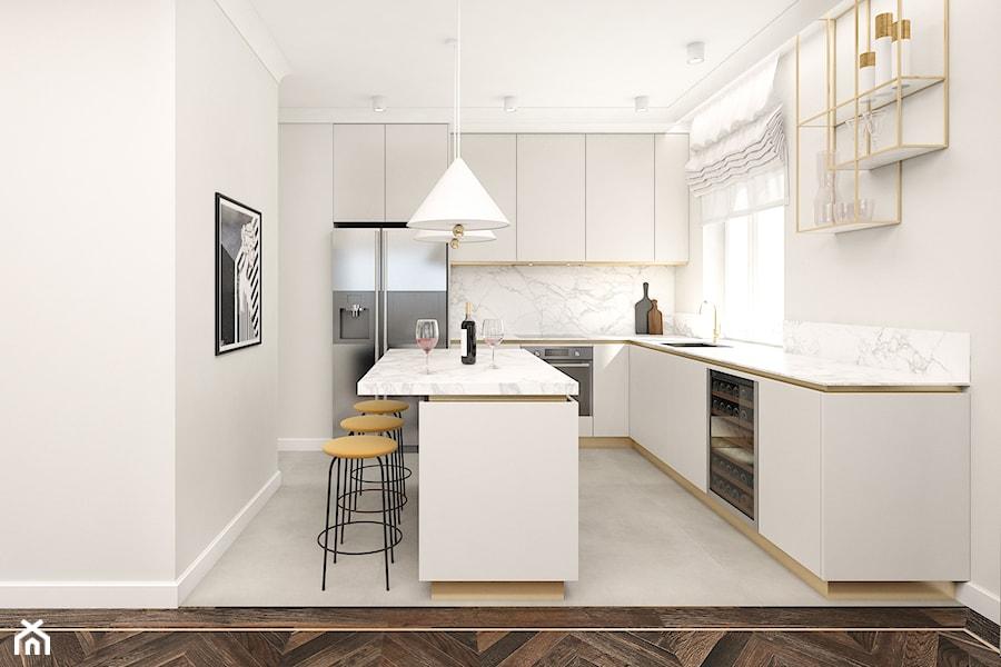 Mieszkanie 120m2 Warszawa - Kuchnia, styl nowoczesny - zdjęcie od INTERIOLOGY