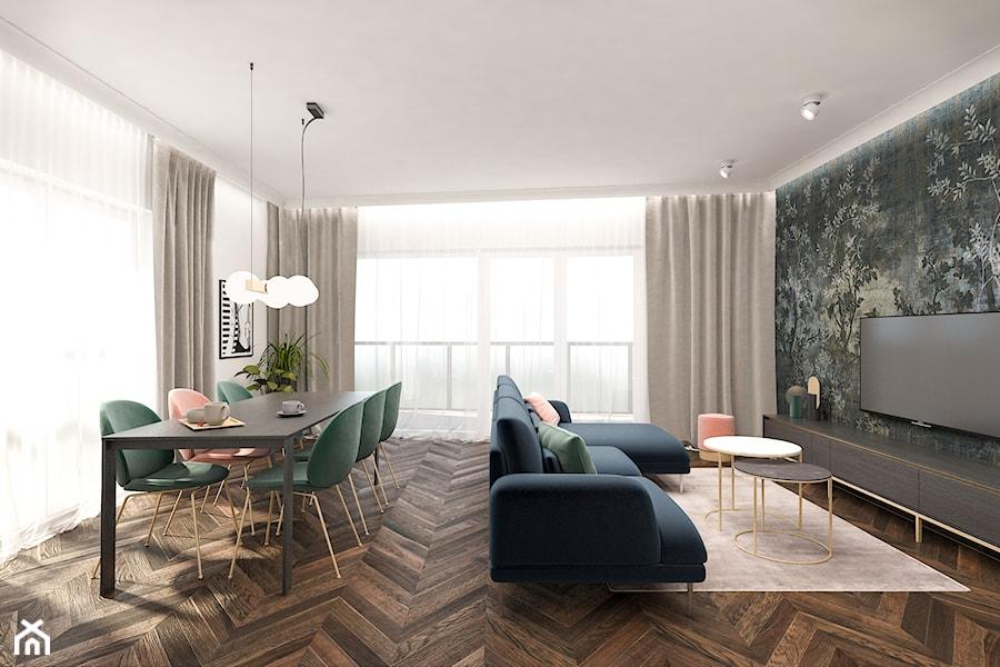 Mieszkanie 120m2 Warszawa - Salon, styl nowoczesny - zdjęcie od INTERIOLOGY