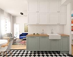 Mieszkanie 85m2 Warszawa - Średnia otwarta kuchnia, styl eklektyczny - zdjęcie od INTERIOLOGY - Homebook