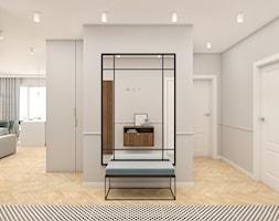 Mieszkanie 100m2 Warszawa - Duży szary hol / przedpokój, styl nowoczesny - zdjęcie od INTERIOLOGY - Homebook