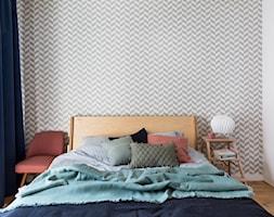 Mieszkanie 43m2 Warszawa - Sypialnia, styl skandynawski - zdjęcie od INTERIOLOGY - Homebook