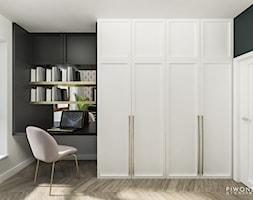 Apartament Żoliborz - Średnie biuro kącik do pracy w pokoju, styl nowojorski - zdjęcie od Piwońska&Serwa