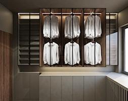 Janowskiego - Średnia garderoba z oknem, styl minimalistyczny - zdjęcie od Motifo Architektura & Wnętrza