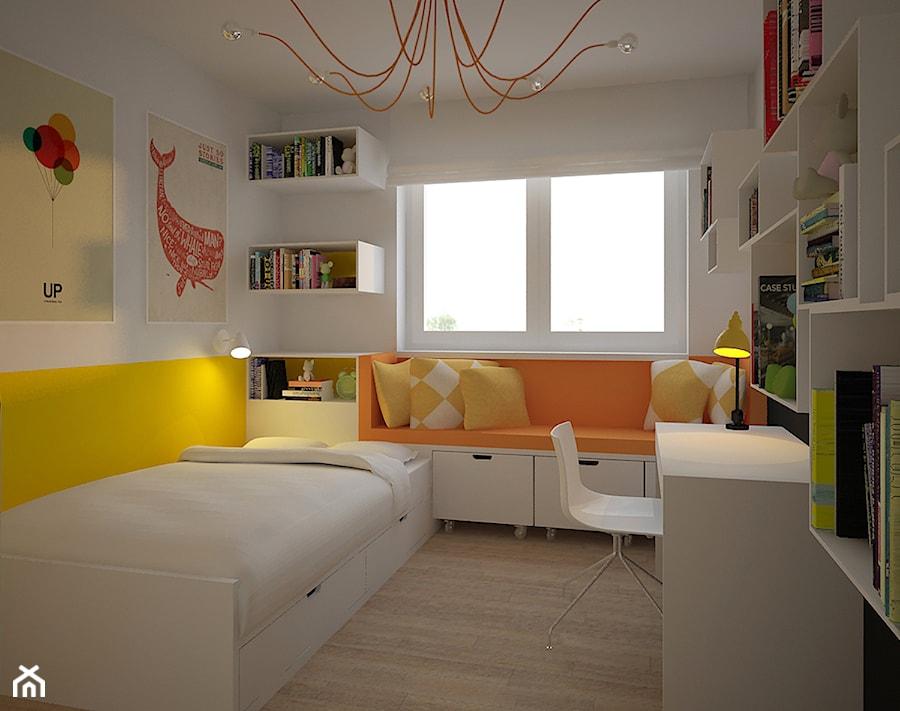 Aranżacje wnętrz - Pokój dziecka: APARTAMENT PODGÓRZE DUCHACKIE - Średni biały żółty pokój dziecka dla dziewczynki dla nastolatka, styl nowoczesny - Motifo Architektura & Wnętrza. Przeglądaj, dodawaj i zapisuj najlepsze zdjęcia, pomysły i inspiracje designerskie. W bazie mamy już prawie milion fotografii!