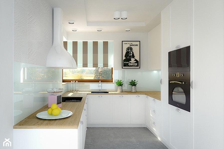 Dom Jednorodzinny Mała Otwarta Wąska Biała Kuchnia W