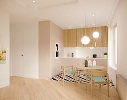 ul.Górskiego kamienica/Warszawa - Mała otwarta biała jadalnia w kuchni, styl vintage - zdjęcie od Biuro projektowe Joanna Karwowska
