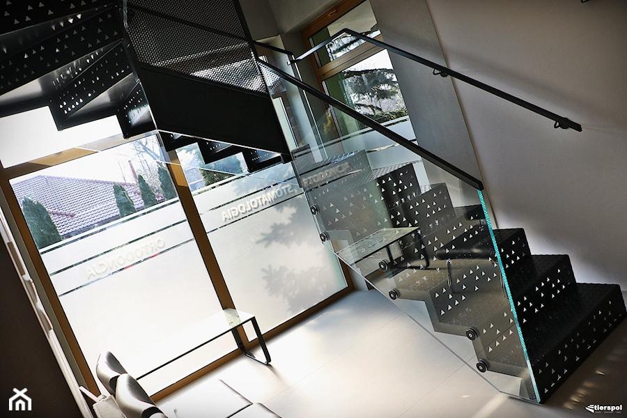Schody z blachy ryflowanej - Biuro, styl nowoczesny - zdjęcie od Tierspol producent schodów szklanych i całoszklanych