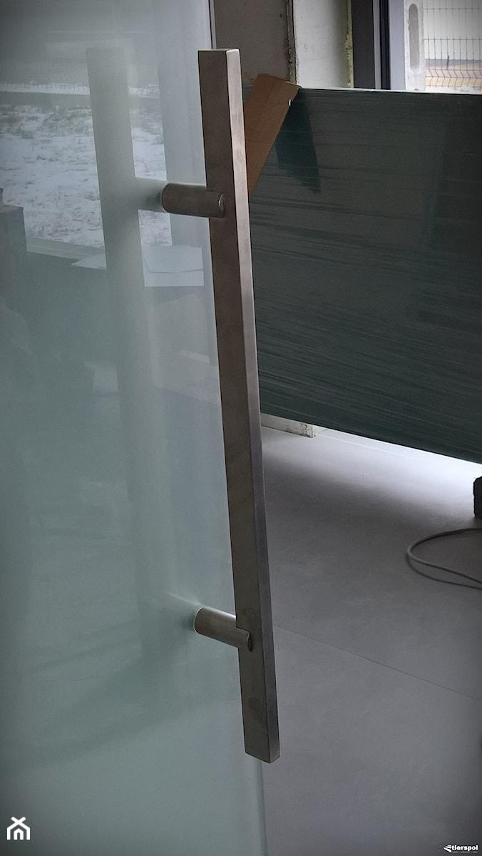 Drzwi z systemem samozamykającym - Biuro, styl minimalistyczny - zdjęcie od Tierspol producent schodów szklanych i całoszklanych