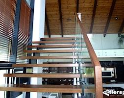 Nowoczesny dom i nasze nowoczesne schody - zdjęcie od Tierspol producent schodów szklanych i całoszklanych - Homebook