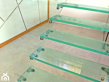 Aranżacje wnętrz - Schody: Szklane schody w domu jednorodzinnym - Schody, styl nowoczesny - Tierspol producent schodów szklanych i całoszklanych. Przeglądaj, dodawaj i zapisuj najlepsze zdjęcia, pomysły i inspiracje designerskie. W bazie mamy już prawie milion fotografii!