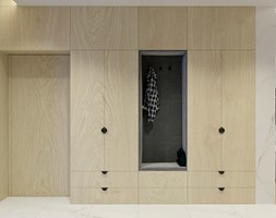 Projekt wnętrza domu w Krakowie - Hol / przedpokój, styl nowoczesny - zdjęcie od NUKO STUDIO - Homebook